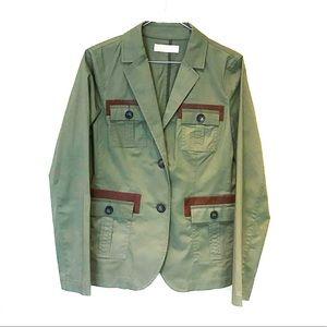 Michael Kors olive army green blazer jacket coat
